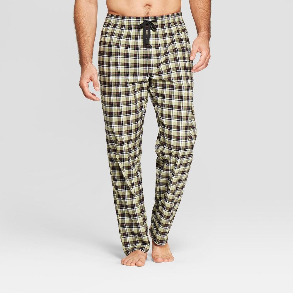 Men's Hanes Plaid Premium Stretch Woven Pajama Pants - Green L