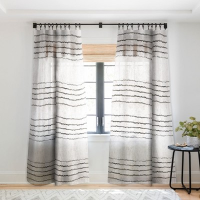 Holli Zollinger LINEN STRIPE RUSTIC Single Panel Sheer Window Curtain - Deny Designs