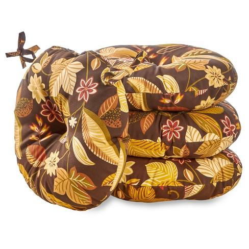 """4pk 15"""" Timberland Floral Outdoor Bistro Chair Cushions - Kensington Garden - image 1 of 3"""