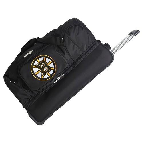 "NHL Boston Bruins Mojo 27"" Rolling Drop Bottom Duffel Bag"