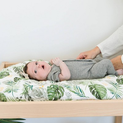Bebe au Lait Muslin Changing Pad Cover Rainforest