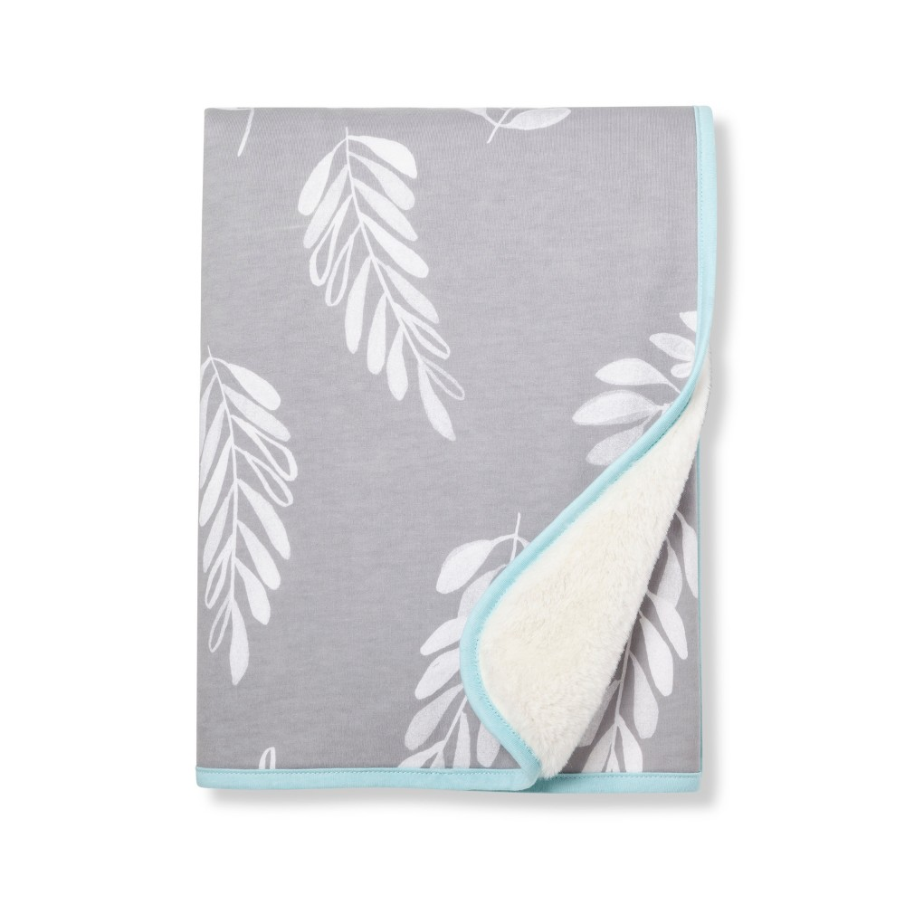 Image of Baby Jersey Knit Blanket - Cloud Island Gray
