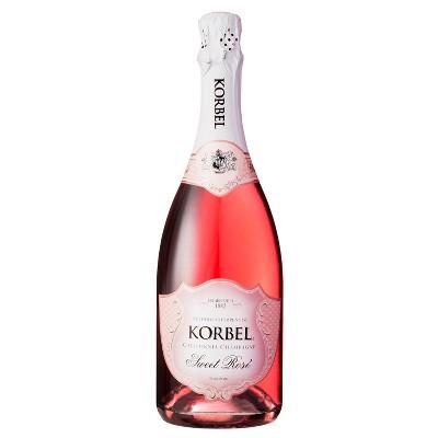Korbel Sweet Rosé Wine - 750ml Bottle