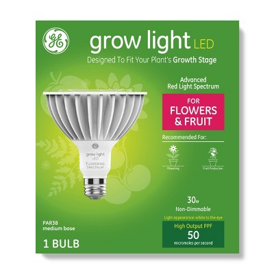 General Electric PAR38 Grow Light With Advanced Red Spectrum Flowers & Fruits LED Light Bulb - Clear