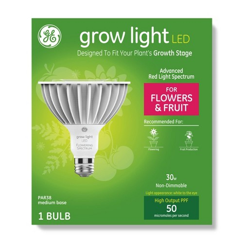 General Electric PAR38 Grow Light With Advanced Red Spectrum Flowers & Fruits LED Light Bulb Clear