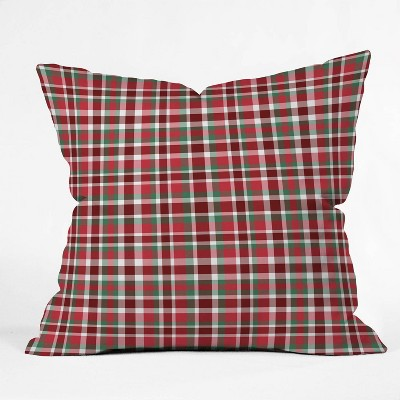 """16""""x16"""" Lisa Argyropoulos Classic Holiday Square Throw Pillow Red - Deny Designs"""
