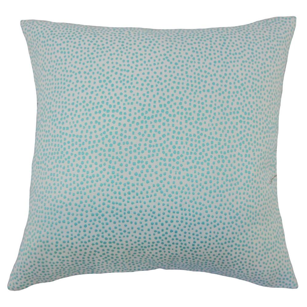Apricot Orange Textured Square Throw Pillow (18