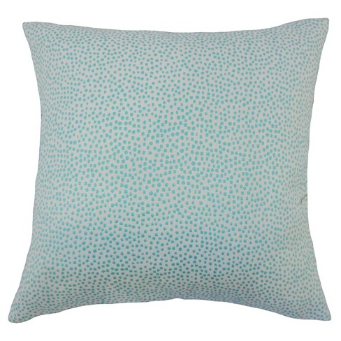 "Turquoise Square Throw Pillow (20""x20"") - The Pillow Collection - image 1 of 1"
