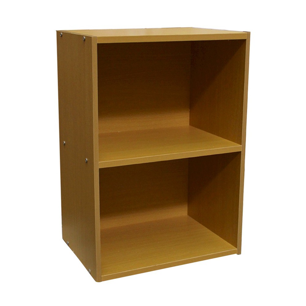 "Image of ""24"""" 2 Level Bookshelf Tan Wood - Ore International"""