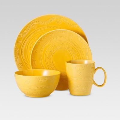 Kennet 16pc Dinnerware Set Buttercup - Threshold™