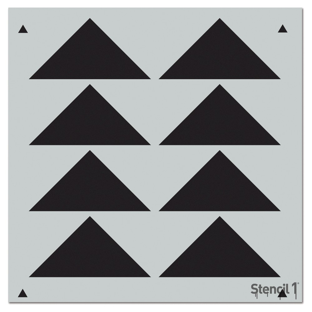 Stencil1 Triangles Aligned Repeating - Wall Stencil 11