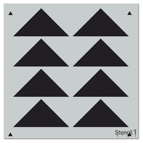 "Stencil1® Triangles Aligned Repeating - Wall Stencil 11"" x 11"" - image 1 of 2"