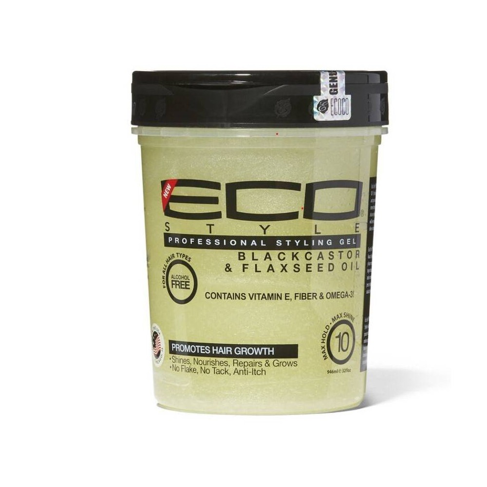 Image of Ecoco Black Castor and Flaxseed Oil Styling Gel - 32 fl oz
