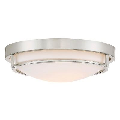 Brushed Nickel Flush Mount Ceiling Lights (Set of 2)- Filament Design