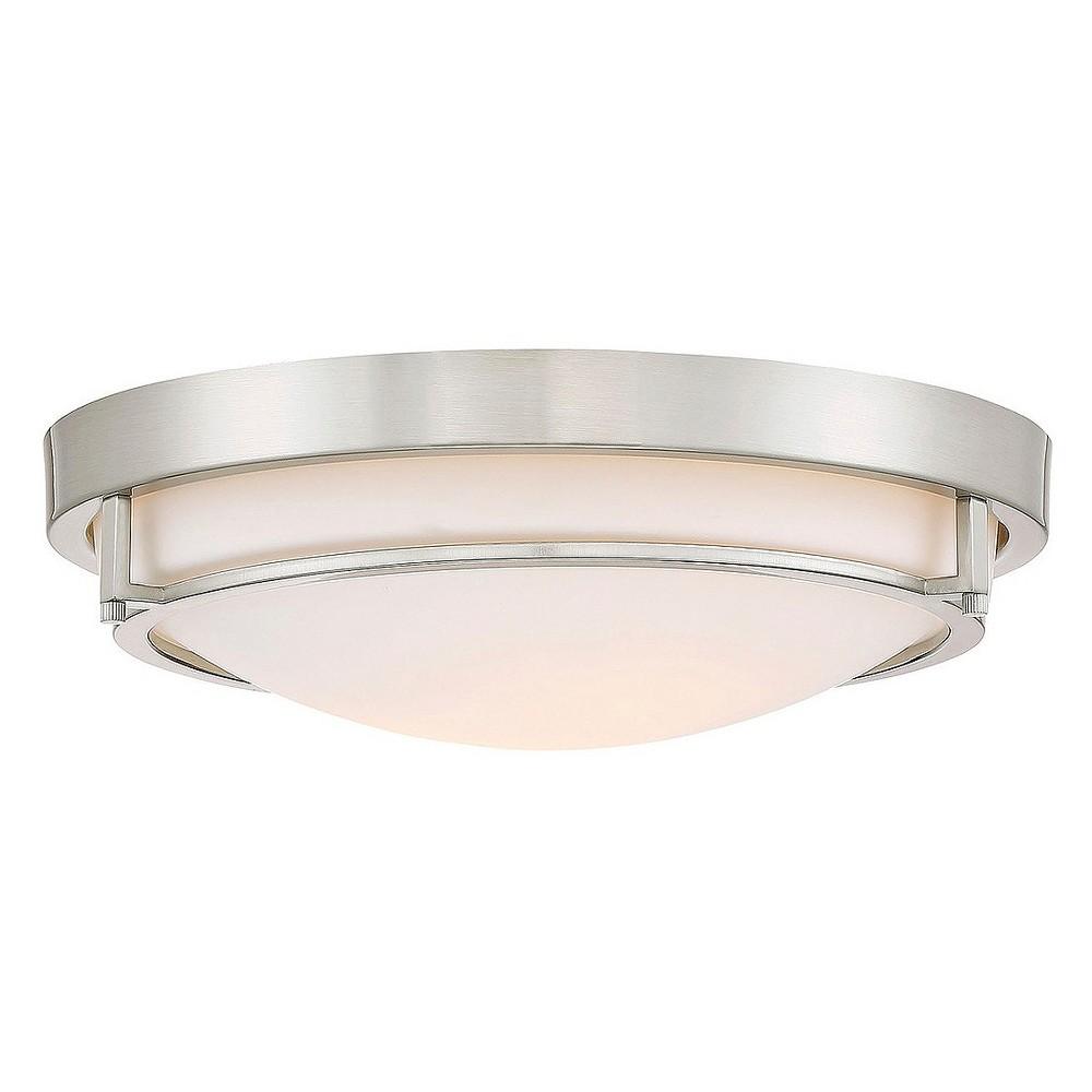 Brushed Nickel Flush Mount Ceiling Lights (Set of 2) - Filament Design