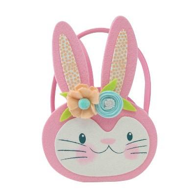 Easter Bunny Felt Basket Pink - Spritz