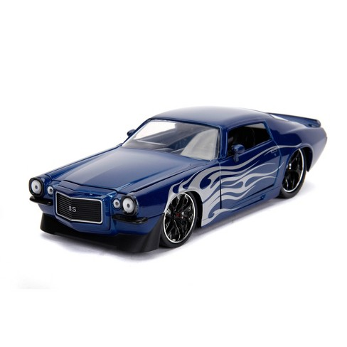 Jada Toys Big Time Muscle 1971 Chevy Camaro SS Die-Cast Vehicle 1:24 Scale Navy Blue - image 1 of 4