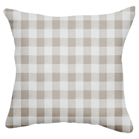 "Gray/White Buffalo Square Throw Pillow (18""x18"") - The Pillow Collection - image 1 of 1"