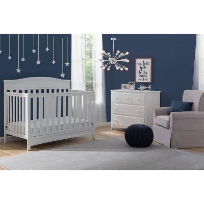 Delta Children Emery 4-in-1 Convertible Crib - White