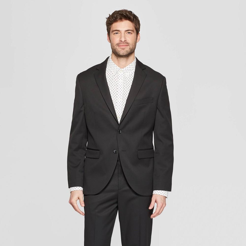 Men's Standard Fit Suit Jacket - Goodfellow & Co Black 42S