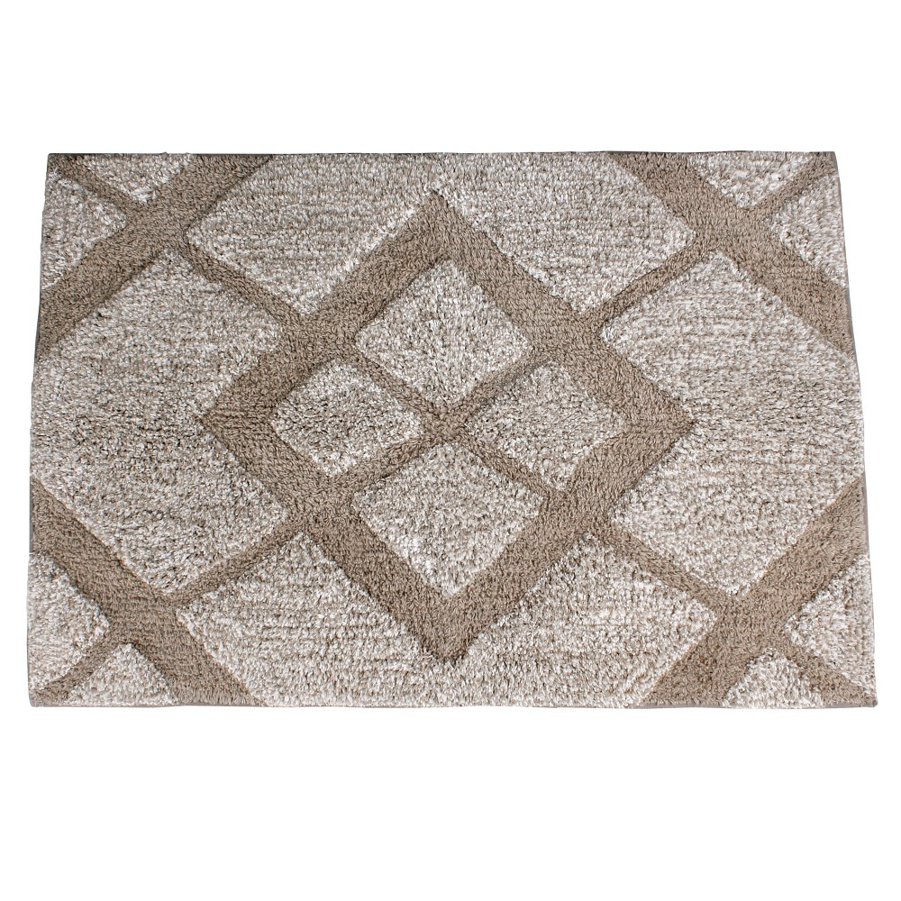 "Image of ""20"""" x 30"""" Davidson bath rugs and mats Natural - Saturday Knight Ltd., White"""