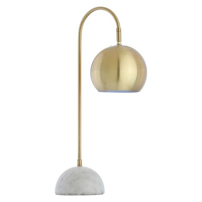 Stephen Metal Or Marble LED Table Lamp Gold (Includes Energy Efficient Light Bulb)- JONATHAN Y