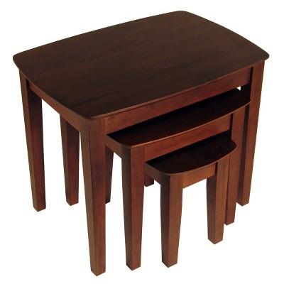 3pc Bradley Nesting Table Set - Antique Walnut - Winsome
