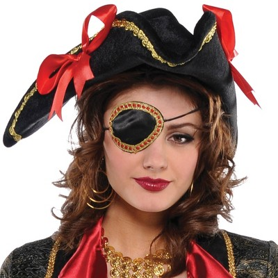 Adult Elegant Pirate Eye Patch Accessory Halloween Costume