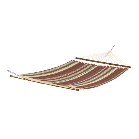 Fadesafe Quilted Hammock - Heather Henna Red Stripe - Classic Accessories Montlake - image 1 of 4