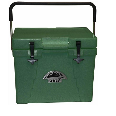 Sub Z 23 Quart Double Wall Insulated Portable Cooler with Handle, Forest Green - image 1 of 4