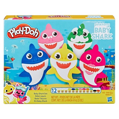 Play-Doh Pinkfong Baby Shark Set with 12 Non-Toxic Play-Doh Cans - image 1 of 6