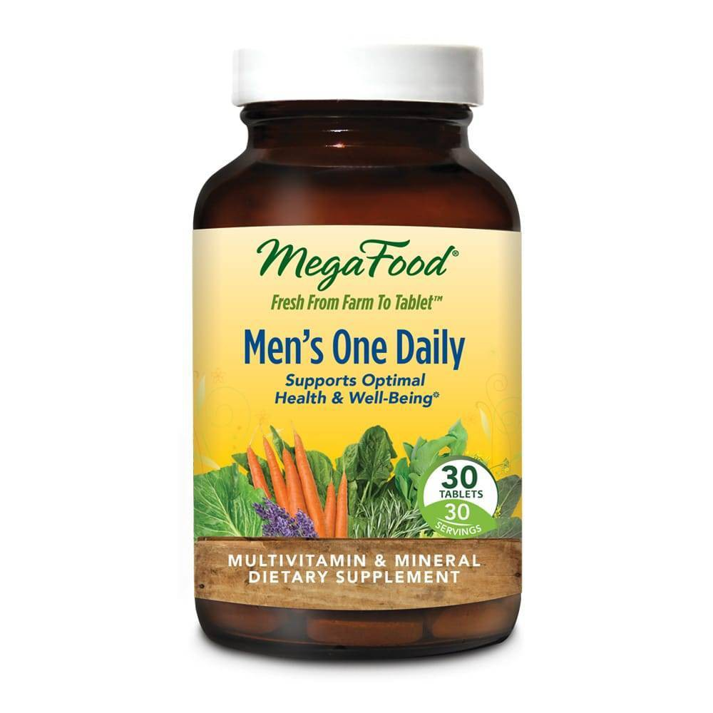 MegaFood Men's One Daily Multivitamin Tablets - 30ct MegaFood Men's One Daily is a convenient, once-daily multivitamin that nourishes the whole body. Gender: Male. Age Group: Adult.