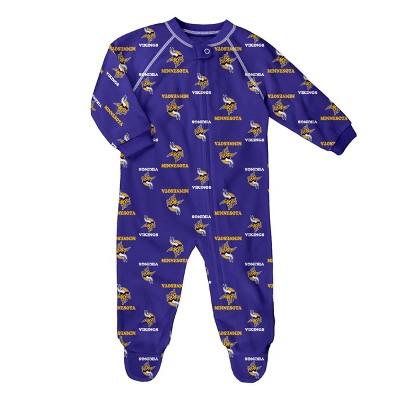 NFL Minnesota Vikings Baby Boys' Blanket Sleeper - 3-6M