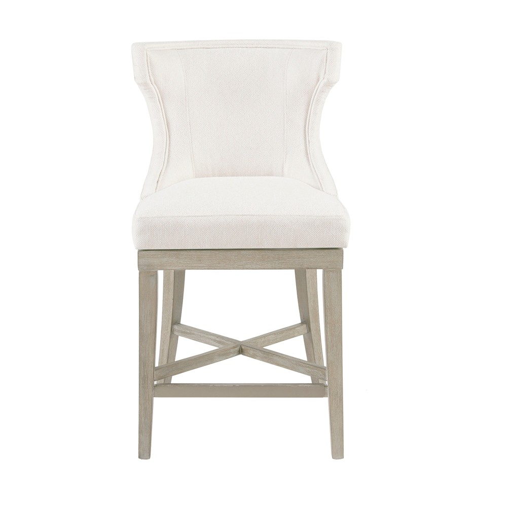 Troy Counter Stool with Swivel Seat Cream