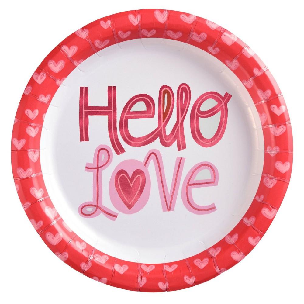 "Image of ""10ct 8.5"""" Valentine's Dinner Plate Love - Spritz , Red"""
