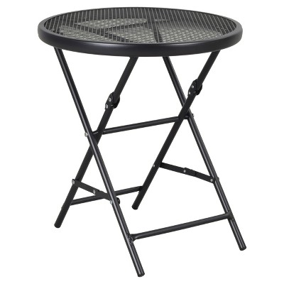 18  Metal Mesh Folding Patio Accent Table - Threshold™