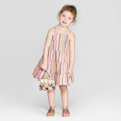 Toddler Girls' Striped A Line Dress   Cat & Jack by Line Dress