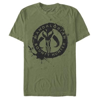 Men's Star Wars The Mandalorian Paint Splatter Emblem T-Shirt