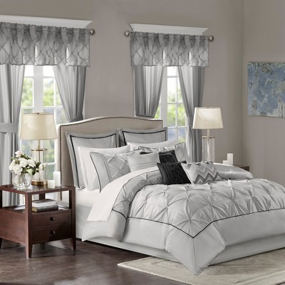 King 24pc Emma Room in a Bag Gray