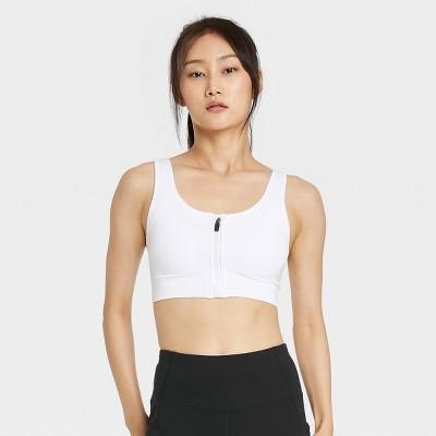 Women's Medium Support Zip-Front Seamless Bra - All in Motion™