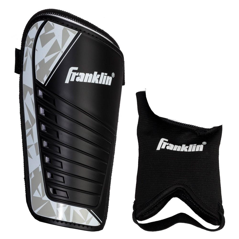Franklin Sports Field Master Shin Guards Black Silver S