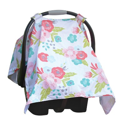 GO By Goldbug Car Seat Canopy Cover Floral