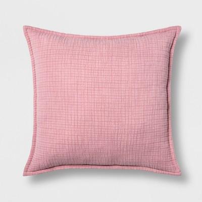 Gauze Texture Euro Pillow Coral - Opalhouse™