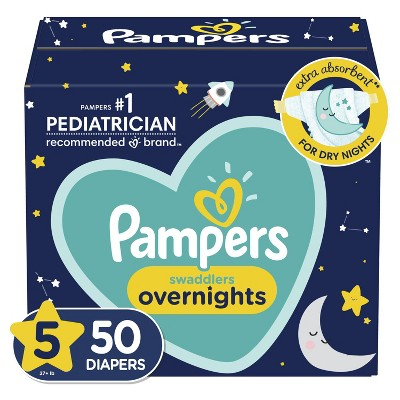 Pampers Swaddlers Overnight Diapers - (Select Size and Count)