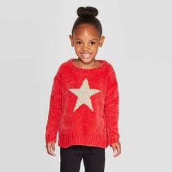 Toddler Girls' Long Sleeve 'Star' Pullover - Cat & Jack™ Red