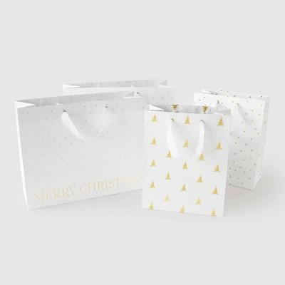 White Gift Bag Set, Set of 4 (2 cub, 2 vogue) - Sugar Paper™