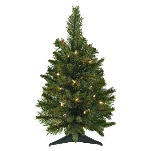 2ft pre lit artificial christmas tree cashmere clear led lights