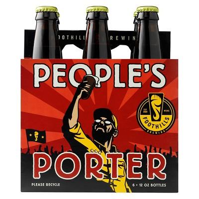 Foothills People's Porter Beer - 6pk/12 fl oz Bottles