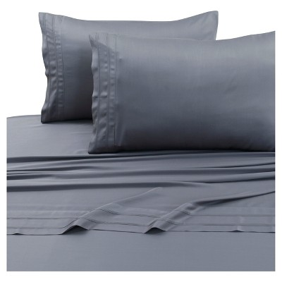 Rayon from Bamboo Deep Pocket Solid Sheet Set (Queen)Steel Gray 300 Thread Count - Tribeca Living®