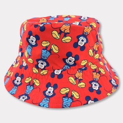 Toddler Mickey Mouse Reversible Bucket Hat - Red/Blue